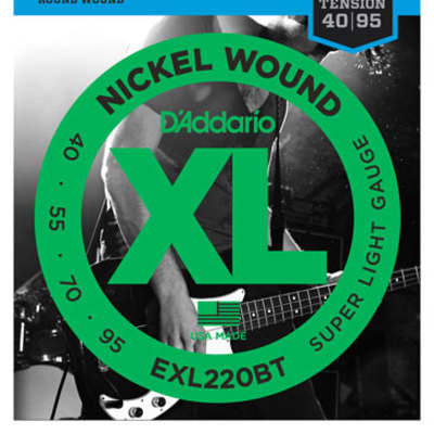 D'Addario EXL220BT XL Balanced Tension Nickel Wound Bass Strings 40-95
