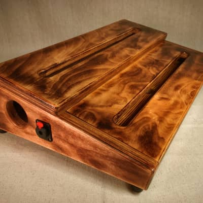 Double Decker Custom Pedalboard - Choose Burned Color - by KYHBPB - P.O.