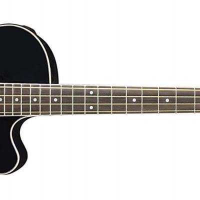 Oscar Schmidt Acoustic Electric Black Hollow Body Bass With Gig Bag OB100B-A for sale