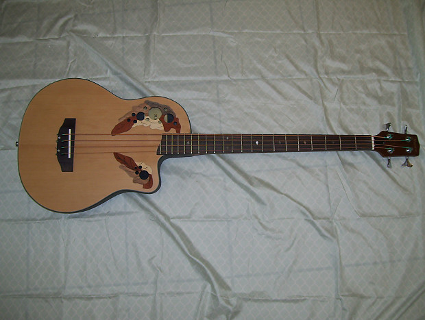 Acoustic Bass Guitar Wood Color Reverb