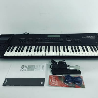 Roland XP-60 61-Key 64-Voice Music Workstation Keyboard + New battery + Extras