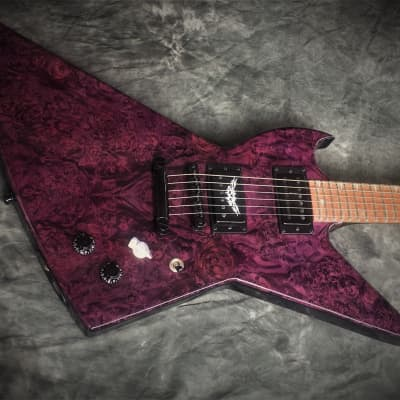 SALE! Black Diamond USA Goliath Xplorer Custom Guitar Hand Artisan Crafted Purple/Blk for sale