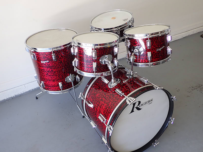 Rogers 5 pc Holiday Drum Kit 1966 Red Onyx