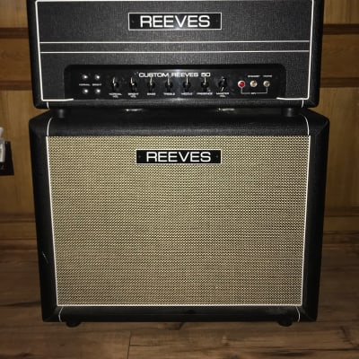 Reeves Custom 50 (Head and cab, Early 2010s, Black) - US Hiwatt Clone for sale