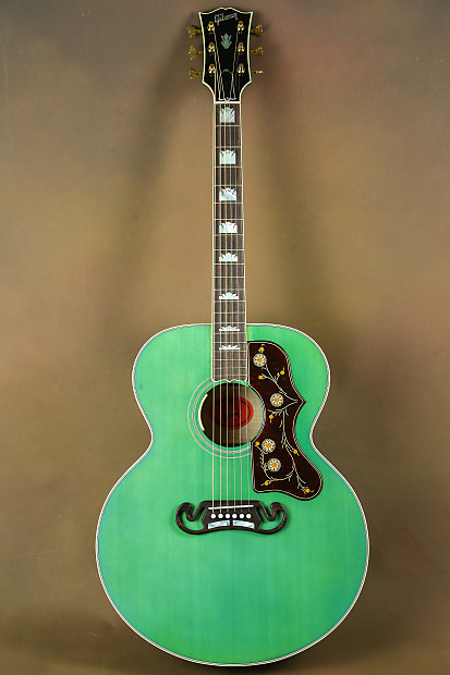 2016 Gibson Sj 200 Custom Sea Green Acoustic Guitar J 200 Reverb