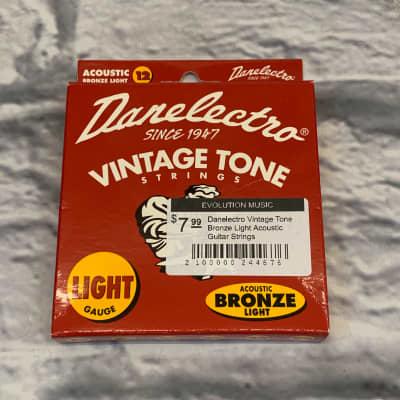 Danelectro Vintage Tone Bronze Light Acoustic Guitar Strings
