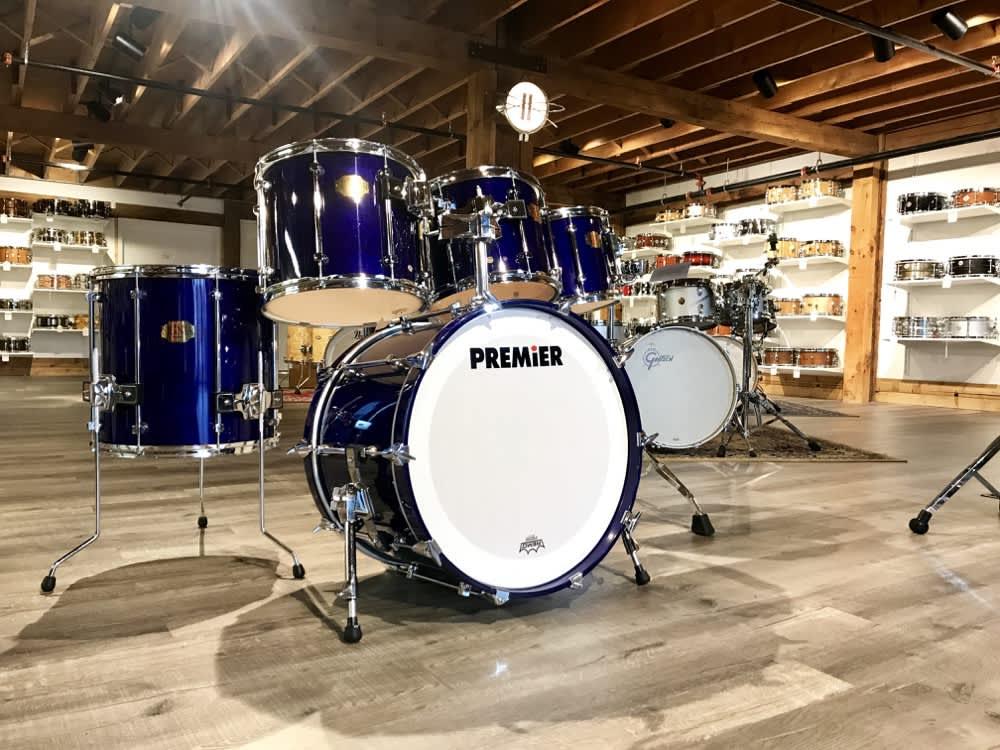 used premier signia 7pc drum set sapphire blue reverb. Black Bedroom Furniture Sets. Home Design Ideas