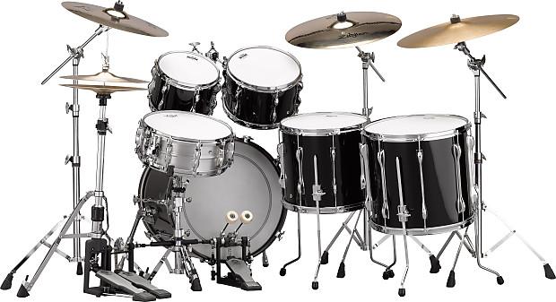 Yamaha recording custom 2016 solid black 5 pc drum set for Yamaha dtx450k 5 piece electronic drum kit