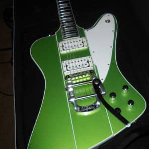 David Vogele/ Scarecrow Guitars Custom Firebird 2016 Metalic Green for sale