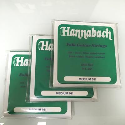 Hannabach 3 x 254 Folk Guitar Strings Set