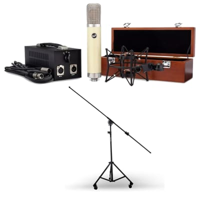 Warm Audio WA-251 Large-Diaphragm Tube Mic, AxcessAbles MB-W Heavy Microphone Stand Bundle