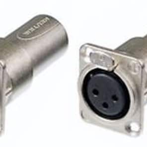 2 Neutrik NA3FDM Adapter 3 Pin Mic XLR Female Pass Thru Converter Male Feed