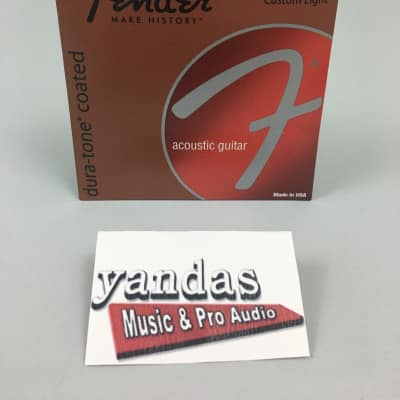 Fender Dura-Tone Coated 80/20 Bronze Acoustic Guitar Strings - Custom Light | 880CL for sale