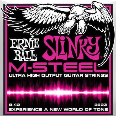 Ernie ball M-Steel Guitar Stings Super Slinky 9-42 for sale