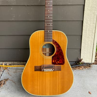 Epiphone 1964 FT-112 Bard 12-string Natural with Case Outstanding Condition for sale