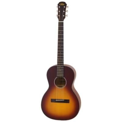 Aria 131 Vintage 100 Series Parlor Acoustic Guitar, Matte Tobacco Burst for sale