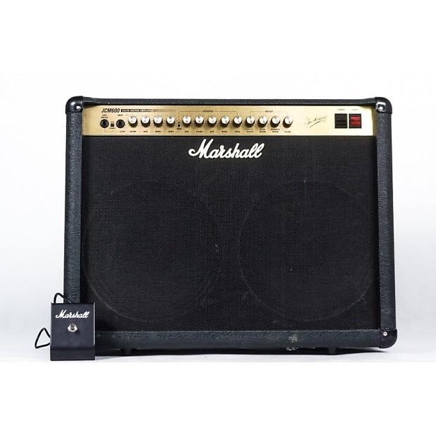 marshall jcm 600 602 1998 black tolex 2x12 guitar combo amp reverb. Black Bedroom Furniture Sets. Home Design Ideas