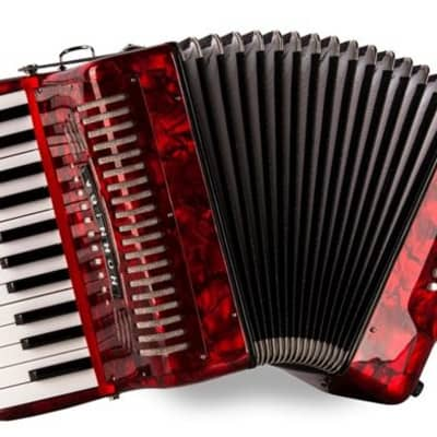 Hohner 1303-RED Piano 12 Bass Accordion Pearl Red