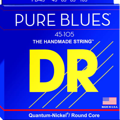 DR Pure Blues Quantum-Nickel/Round Core Bass Strings 45-105  PB-45 45 65 85 105