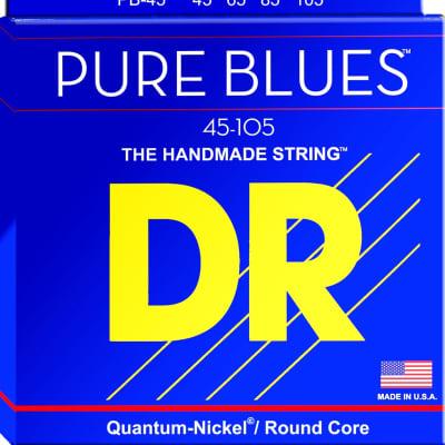 DR Pure Blues Quantum-Nickel/Round Core Bass Strings 45-105  PB-45 45 65 85 105