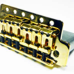 Genuine Fender Tremolo Bridge for MIM/Meixican Strat/Stratocaster Guitar - GOLD