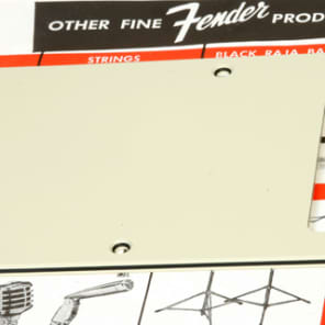 Genuine Fender Lefty (LH) Strat 3 Ply Tremolo Cavity Cover, Mint Green 0055322000 Backplate