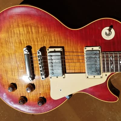 1980s Gibson Les Paul Standard Reissue w/ Artisan Inlays (Hearts & Flowers) Custom Shop Artist Model for sale