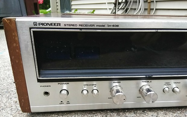 Vintage 1974-76 Pioneer SX-636 Stereo Receiver *For Parts/Repair*