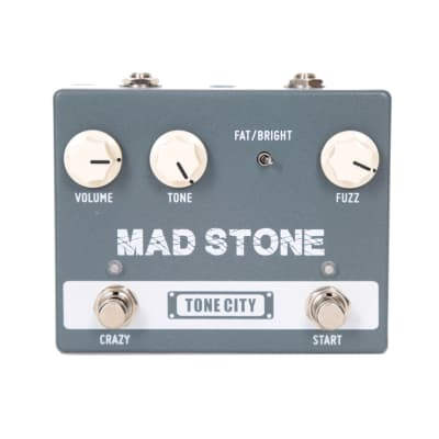 Tone City TC-T37 Mad Stone Classic Germanium Diode Fuzz Guitar Effect Pedal with an Octave-Up