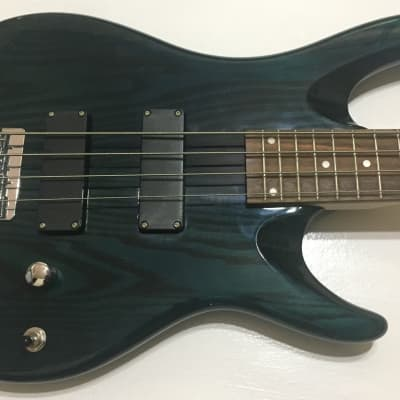 Eagle S101 Blue/Green Bass Guitar for sale