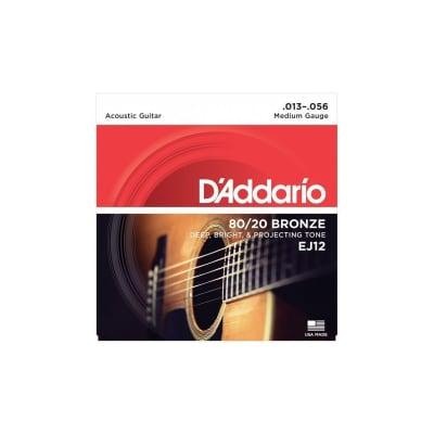 D'Addario EJ12 13-56 80-20 Bronze Acoustic Strings