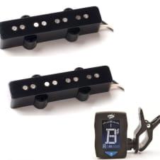Seymour Duncan Vintage Jazz Bass Pickup Set SJB-1b Bridge & SJB-1n Neck ( FREE DUNLOP TUNER )