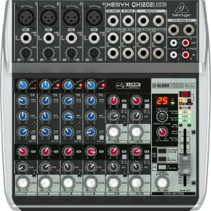 Behringer Xenyx QX1202USB 12-Input Mixer with USB Interface and Effects