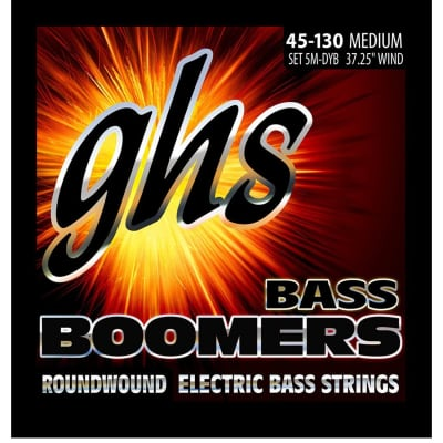 GHS 5M-DYB 5-String Long Scale 45-130 Medium Roundwound Bass Boomers