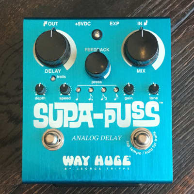 Used Way Huge Supa Puss Delay Guitar Effect Pedal