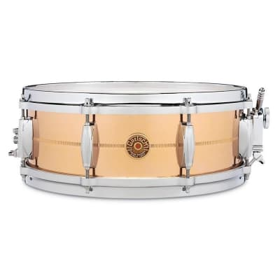 """Gretsch G4160B USA Bronze 5x14"""" 8-Lug Snare Drum"""