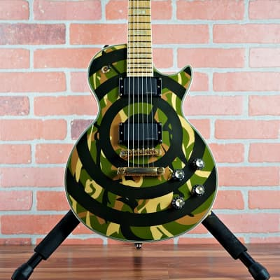 Epiphone Zakk Wylde Limited Edition Custom Shop Les Paul Camo Bullseye 2006 With Case MIK for sale