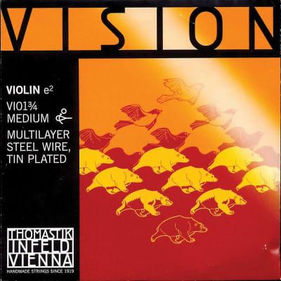 Thomastik Thomastik Vision 3/4 Violin E String - Medium - Tin Plated Multilayer Carbon Steel