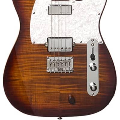 Michael Kelly Hybrid 55 Tiger's Eye Burst Electric Guitar for sale