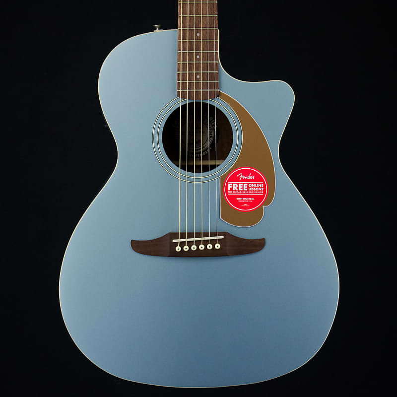 Fender Newporter Player Acoustic Electric Guitar in Ice Blue   Reverb