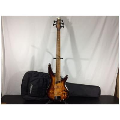 Ibanez SR5PBLTDDEL SR Premium 5-String Bass Guitar w/ Gig Bag, Dragon Eye Burst Flat - Return