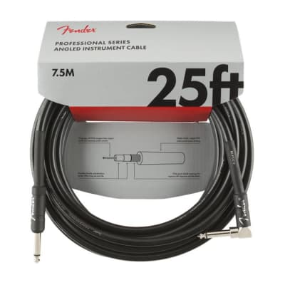 NEW Fender Professional Series Cable - 25' - Straight/Angle - Black