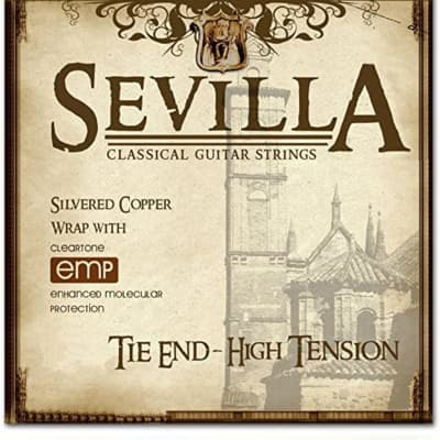Cleartone Strings 8450 Sevilla Classical Strings, High Tension, Tie Ends