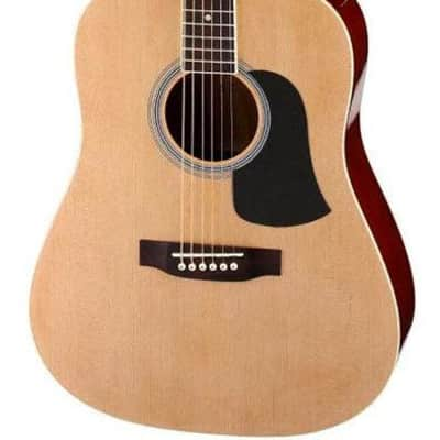 Aria AW-15 Dreadnought Acoustic Guitar in Natural Satin for sale