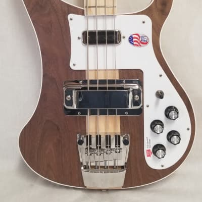 Rickenbacker 4003W Electric Bass Walnut Body Maple Neck, Full Inlay, Wired For Stereo W/case 4003W (Walnut) for sale