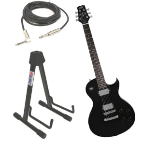 Peavey SC2 Electric 6 String Dual Pickup Guitar Black Finish with Stand & 1/4