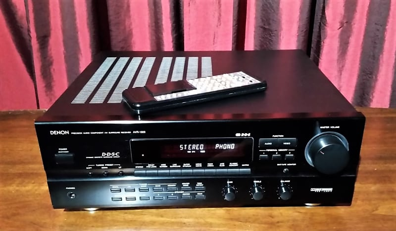 Denon AVR-1500 Stereo Surround Receiver With Phono and Tape Hook Ups