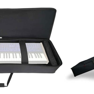 Rockville 61 Key Keyboard Case w/ Wheels+Handle For DAVE SMITH Poly Evolver