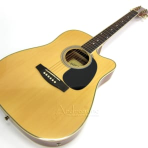 Indiana Thin Body Acoustic/Electric Guitar - Natural for sale