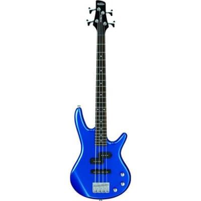 Ibanez miKro Series GSRM20 Electric Bass Guitar, 22 Frets, Bolt-On Maple Neck, Passive Pickup, Starlight Blue